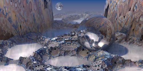Water on the moon by marijeberting