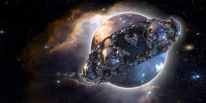 The Kleinian planet enters a planetary nebula