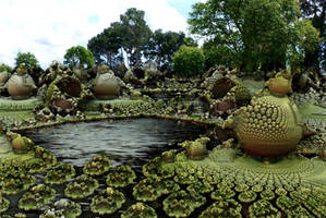 Garden with pond for Marty by marijeberting