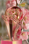 Glass Flower Vase with translucent sphere for Lea