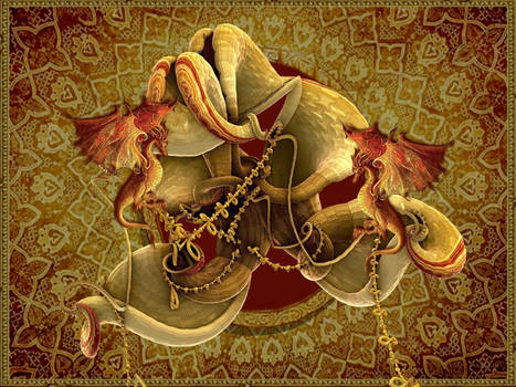 Chinese Dragons by marijeberting