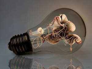 Fractal in light bulb by marijeberting