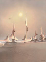 Sailing on a misty morning by marijeberting