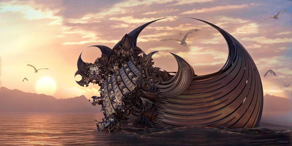 Dragon Ship by marijeberting