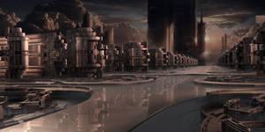 Industrial Park at sundown