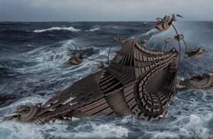 Sinking Ship (or a 'Sinking Strandbeest') by marijeberting