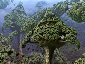 The sparrow-hawk is safe in the fractal tree