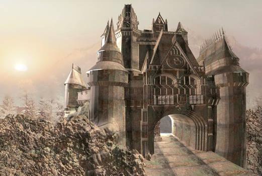 Castle on a frosty morning