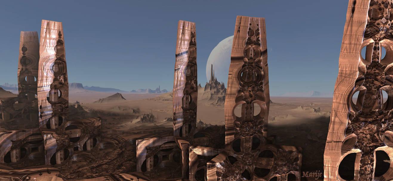 Alien Artwork on Mars ... by marijeberting