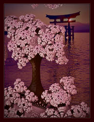 Japanese Cherry Blossom at Sundown