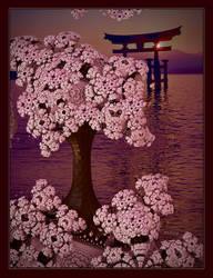 Japanese Cherry Blossom at Sundown