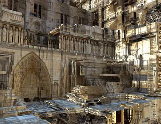 Renovation of the Notre Dame de Paris by marijeberting
