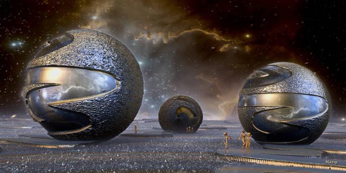 Extraterrestial world by marijeberting