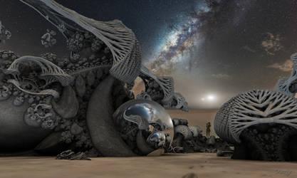 Milky Way over the Desert by marijeberting