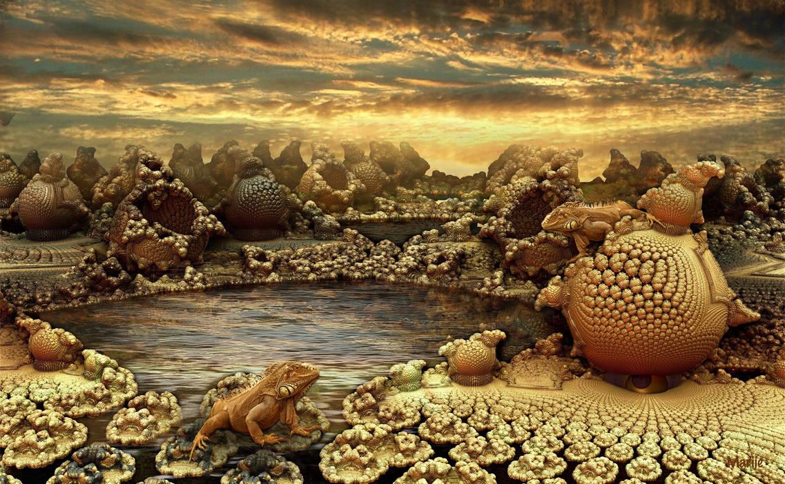 Iguanas in love at sunset ... by marijeberting