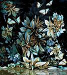 Waterside Flowers and Butterflies