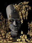 Nefertiti loves golden flowers ...