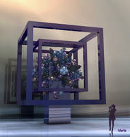Framed Flower Sculpture ...