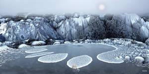 Polar Bear on a piece of glacier ...