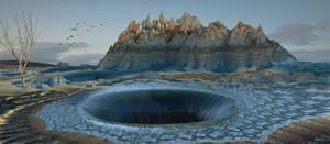 A watery vortex into another dimension ...