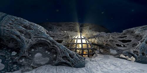 Glass Igloo in Arctic Resort ...