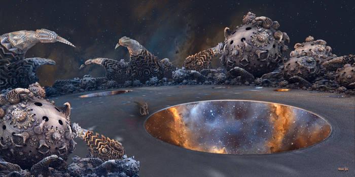 Volcanic hotspots on an alien planet ...