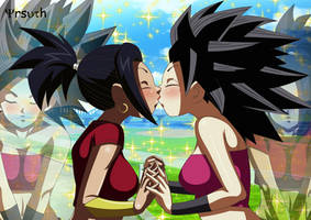 Kale and Caulifla kiss - Dragon Ball Super by YrsuTh