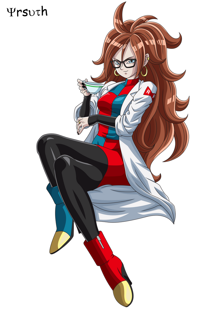 DBF Z Android 21 Stamp edit render full body by YrsuTh on