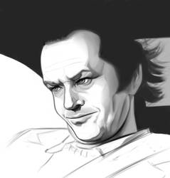 Portrait study : Jack Nicholson in The Shining by adpdl