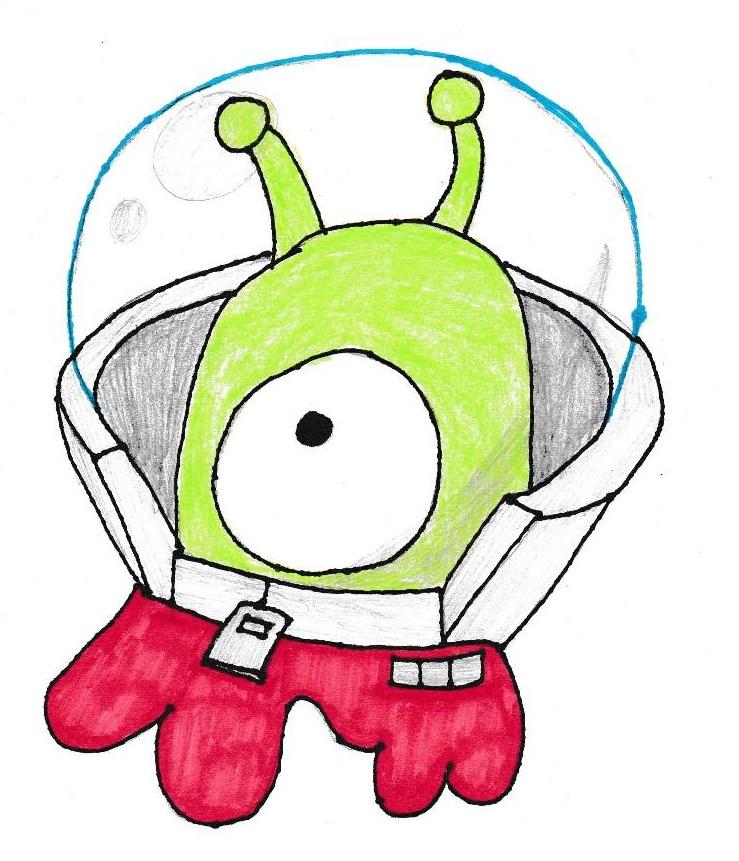 Brain Slug in Space Suit (color) by Spaceman130