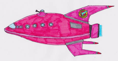 Planet Express Ship - Feminista Design by Spaceman130
