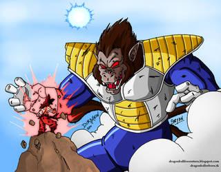 Ozaru Vegeta vs Goku by Diragon12