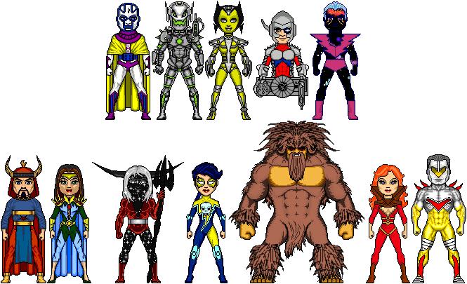 NAC: Justice Avengers' Enemies by Red-Rum-18