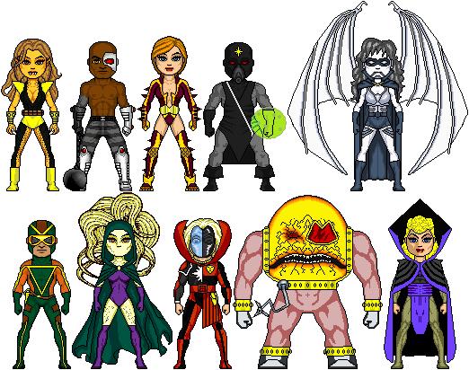 New Amalgam Comics: Thunder Woman's Foes I by Red-Rum-18