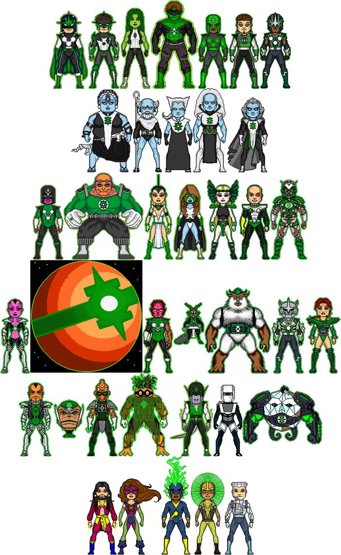 New Amalgam Comics: Green Nova Corps by Red-Rum-18 on