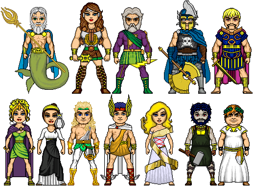 Titans olympians and their equivalent roman