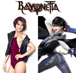 Lauren Cohan as Bayonetta (Bayonetta) by MZimmer1985