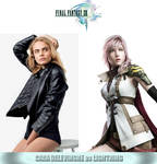 Cara Delevingne as Lightning (Final Fantasy XIII) by MZimmer1985
