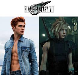 K.J. Apa as Cloud Strife (Final Fantasy VII)