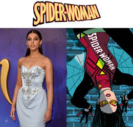 Naomi Scott as Spider-Woman (Spider-Woman) by MZimmer1985