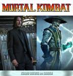 Keanu Reeves as Raiden (Mortal Kombat) by MZimmer1985