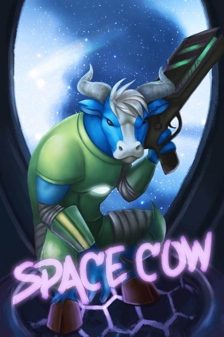 space cow by MisteriaExp