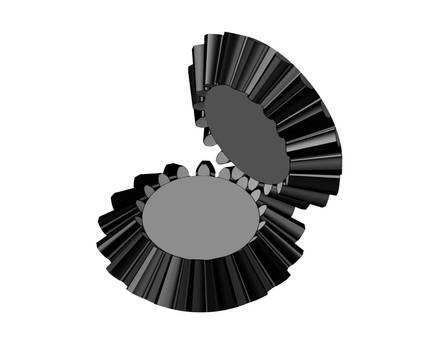 Bevel Gears - Engaged