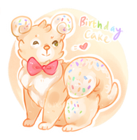 AUCTION: Birthday Cake [open!] by Ponstoe-Adopts