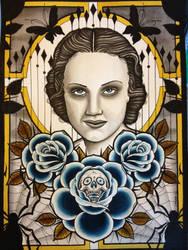 Blue Widow by MrJefferyPage