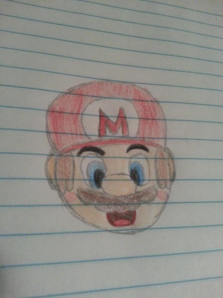 Mario Head (AKA Boredom) by Chi-Da-Hedgie
