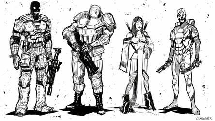 The Merc n' Murder Squad by Gaugex