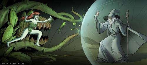 Gandalf vs. Poison Ivy by Gaugex