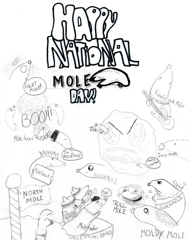 National Mole Day Coloring Pages