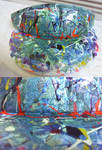 Visor Painted With Nail Polish